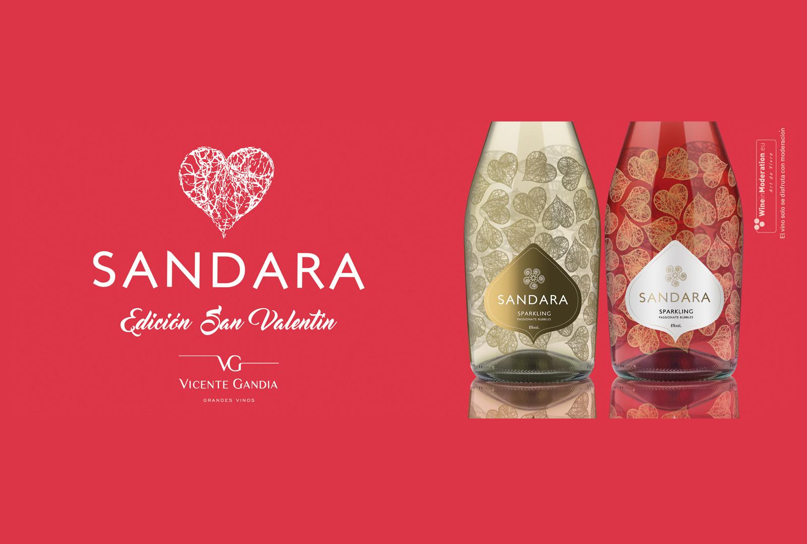 Sandara edición limitada San Valentín, Bodegas Vicente Gandía.