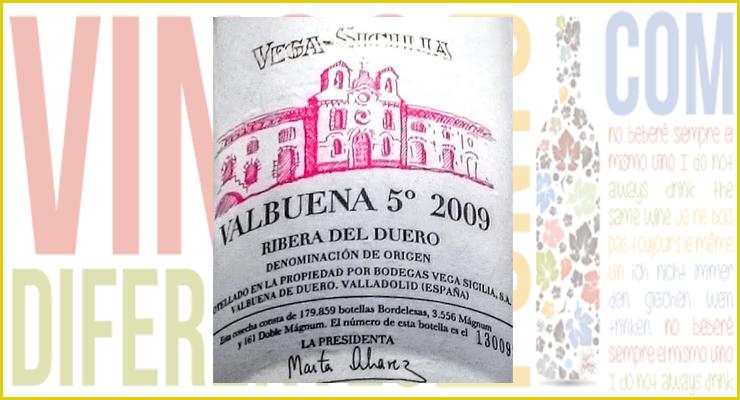 Valbuena 5º 2009. D.O. Ribera del Duero.