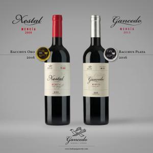 Dos vinos de Bodegas y Viñedos Gancedo premiados en los Bacchus 2016