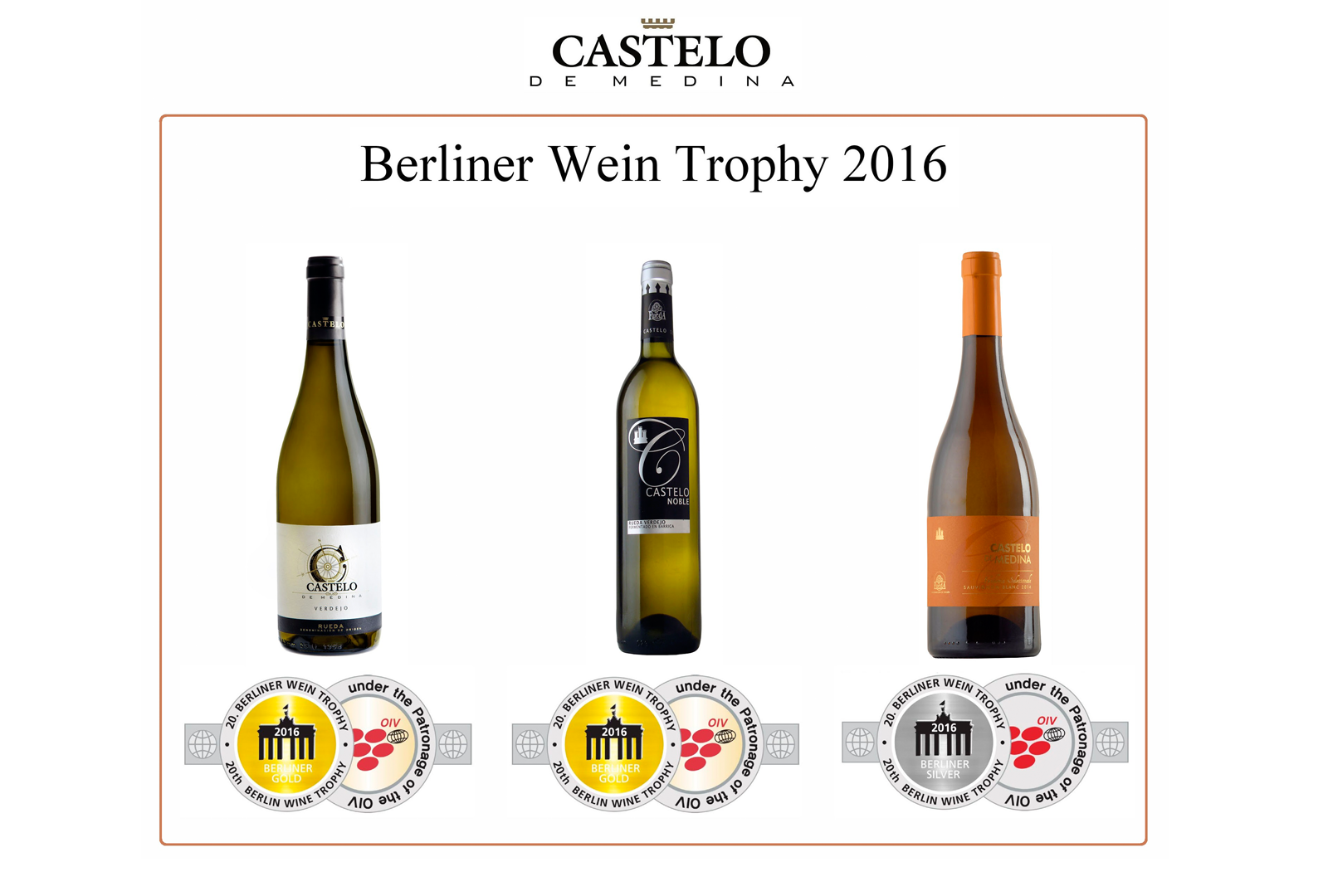 Bodegas Castelo de Medina en el Berliner Wein Trophy 2016.