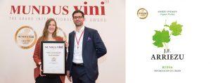 La bodega Arriezu Vineyards triunfa en el prestigioso concurso internacional Mundus Vini