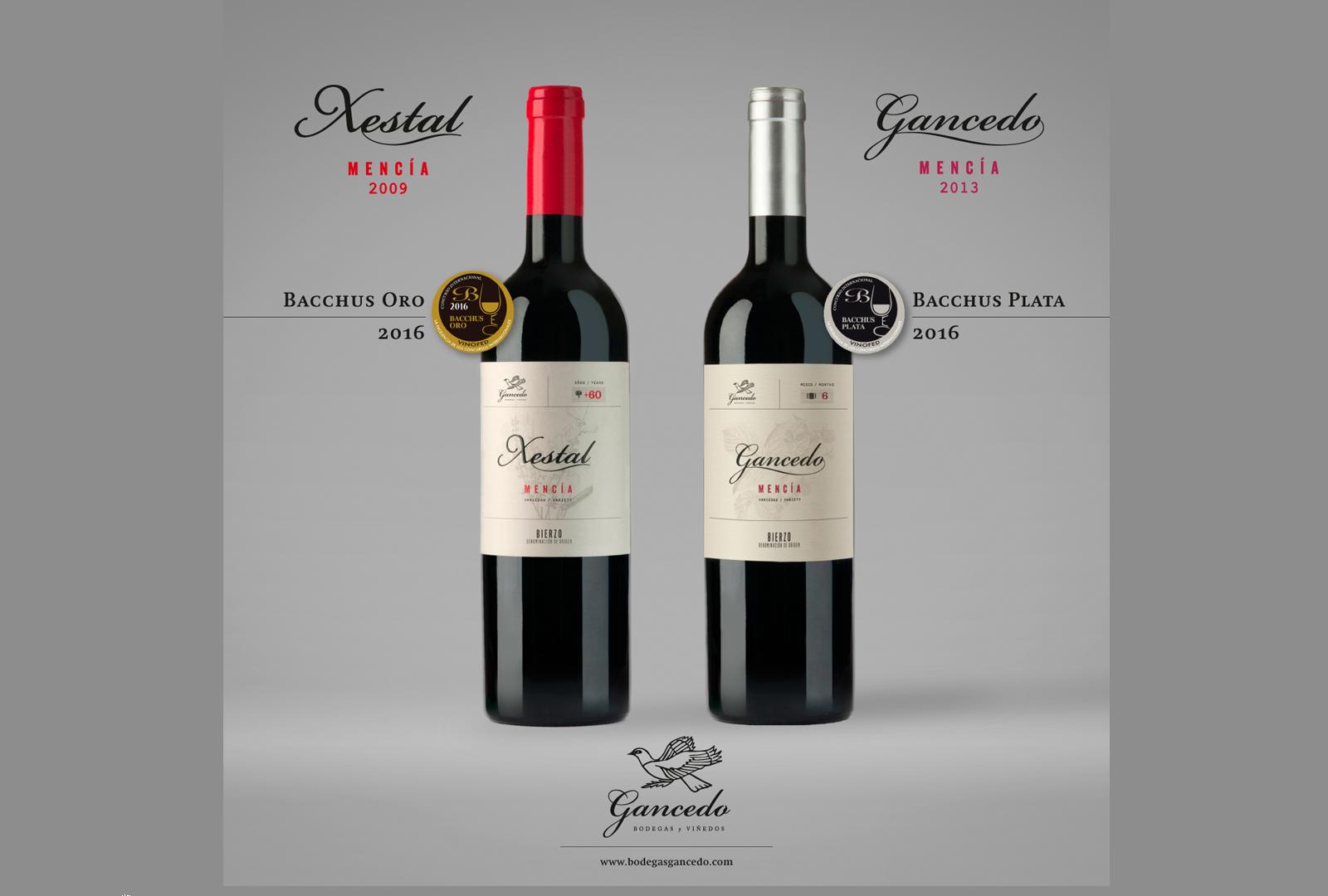 Bodegas y Viñedos Gancedo premiado en los Bacchus 2016.