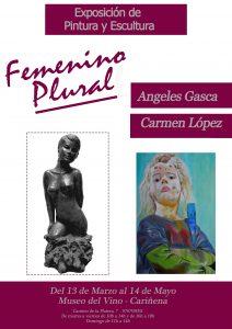"""Museo del Vino de Cariñena, exposición """" Femenino Plural """""""