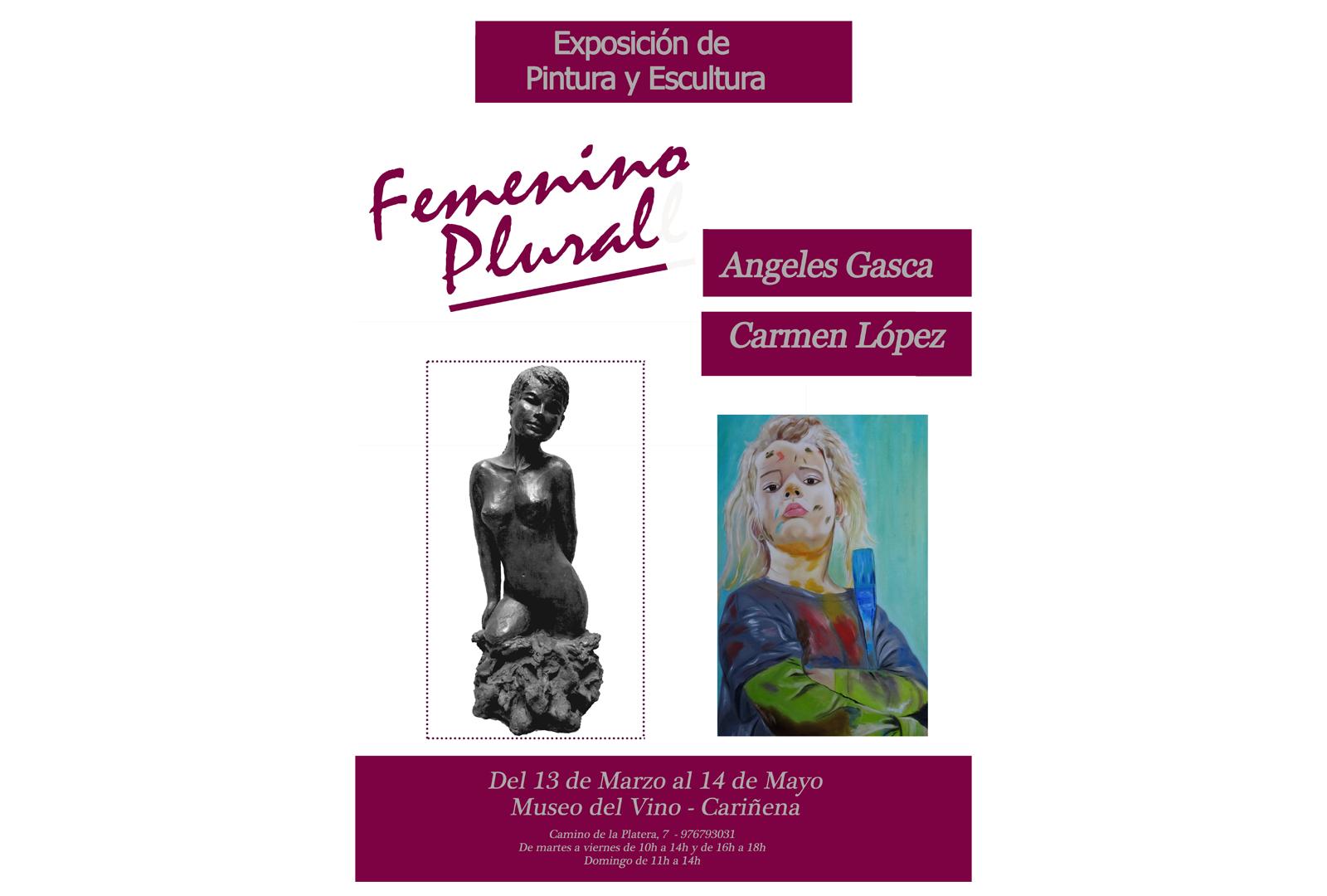 """Museo del Vino de Cariñena, exposición """" Femenino Plural """"."""
