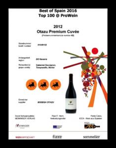 Los vinos de Bodega Otazu premiados en los concursos de Prowein, CINVE y Mundus Vini 2016