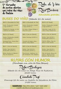 Ruta do Viño Rías Baixas celebrará las V Jornadas de Puertas Abiertas