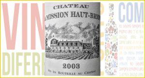 Imagen. Château La Mission Haut-Brion 2003