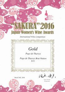 Pago de Tharsys Brut Nature Medalla de Oro SAKURA 2016