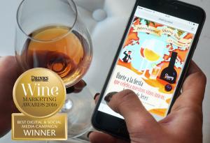nternational Sherry Week gana el premio a la Mejor Campaña Digital y de Redes Sociales 2015 de los Drinks International Awards