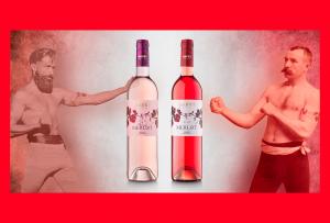 Imagen. Dos de las distintas tonalidades de la gama del vino rosado.