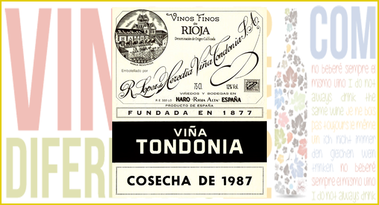 Viña Tondonia Gran Reserva 1987. D.O.Ca. La Rioja.