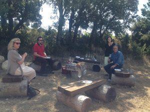 Almuerzo entre cepas, un festín en los viñedos de Pagos de Leza.
