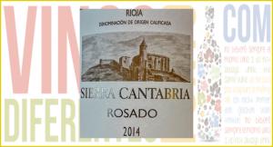 Imagen. Etiqueta de Sierra Cantabria Rosado 2014.