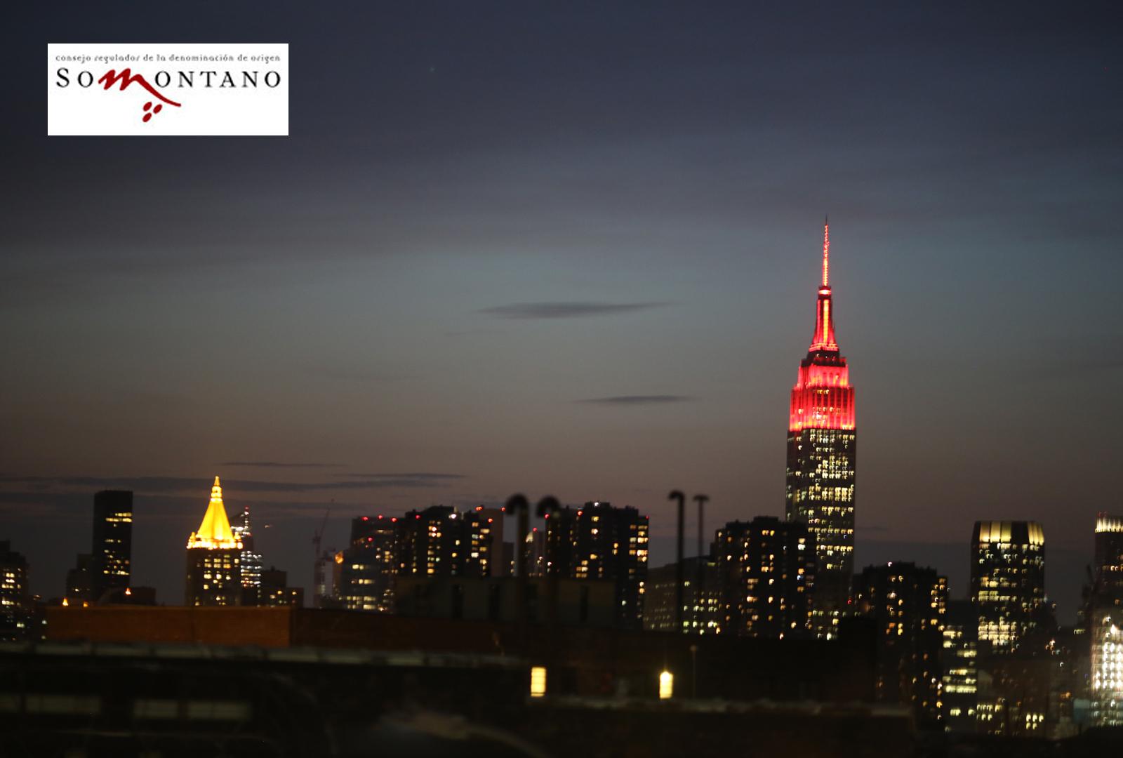 La D.O. Somontano en los cielos de Nueva York.