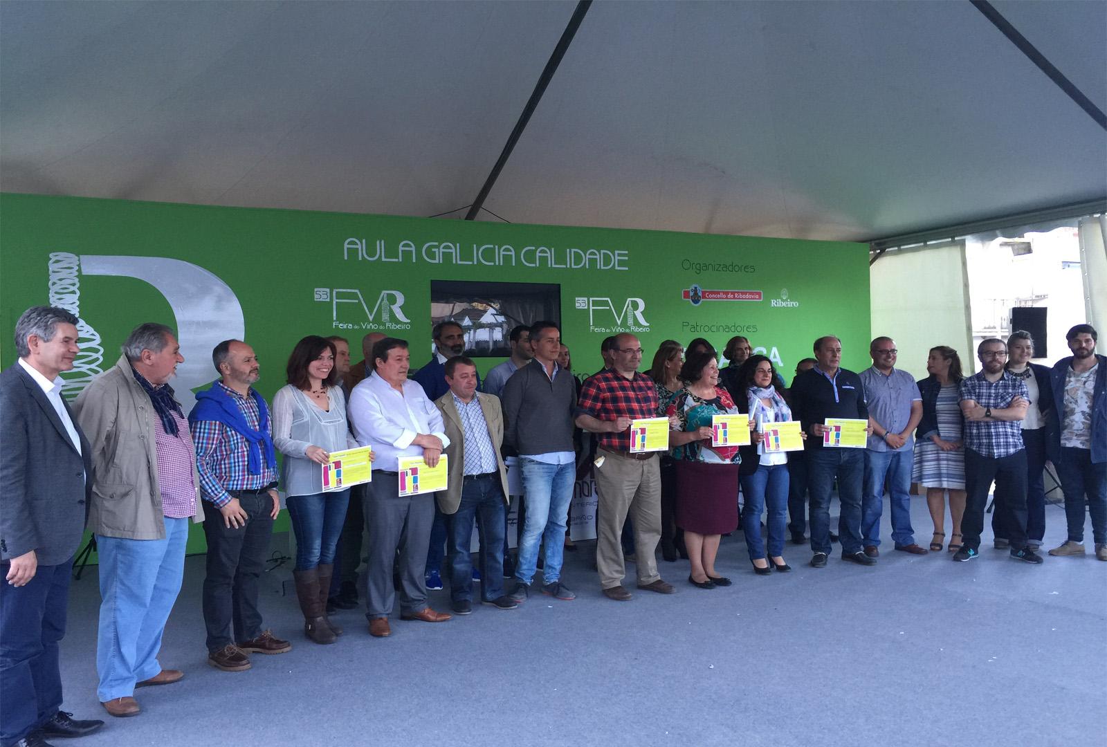 Ganadores de la cata popular de la DO Ribeiro.