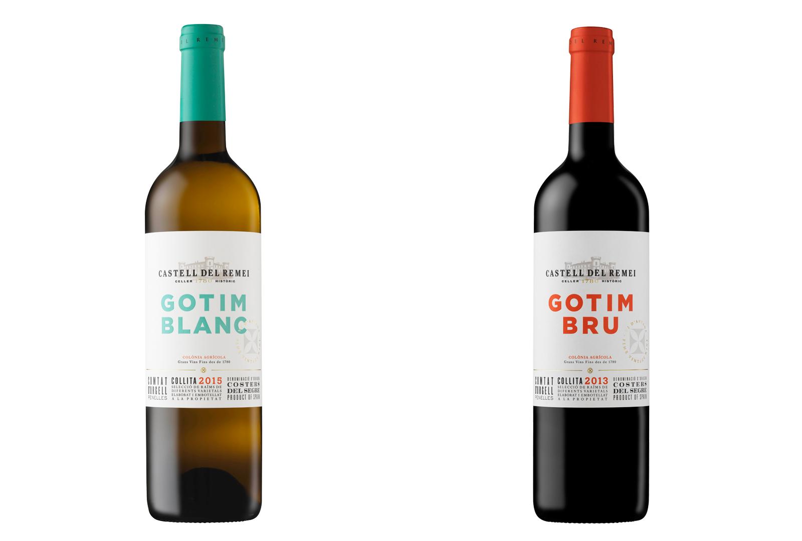 Gotim Blanc 2015 y Gotim Bru 2013.