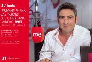 Las tardes del Ciudadano García RNE1 se emite mañana desde la DO Utiel-Requena