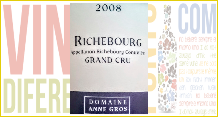 Richebourg 2008. Un gran vino de Anne Gross