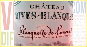 Blanquette de Limoux 2012. Château Rives-Blanques.