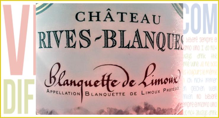Blanquette de Limoux 2012. Château Rives Blanques.