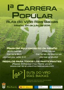 Ruta do Viño Rías Baixas organiza su 1ª Carrera Popular