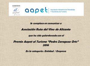 comunicacion premio AAPET