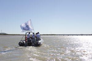 travesia tio pepe por el rio Guadalete jerez
