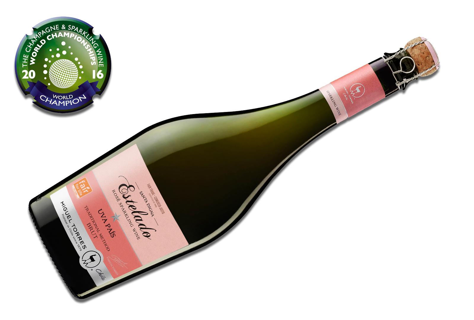 Estelado Rosé de Miguel Torres Chile, mejor vino espumoso.