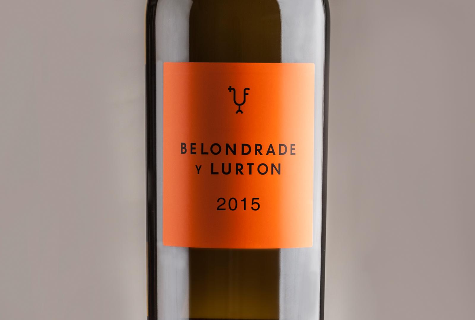 Belondrade y Lurton 2015 emblema de la bodega.