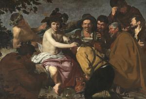 Imagen Dios del Vino. Los Borrachos o El Triunfo de Baco. Museo del Prado. Madrid.