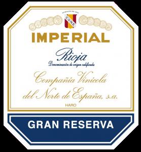 Etiqueta Imperial de Cvne Gran Reserva.