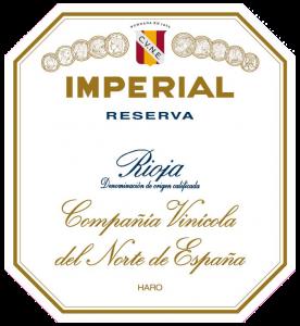 Etiqueta Imperial de Cvne Reserva.