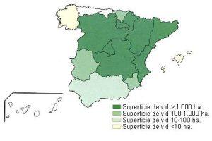 Distibución geográfica en España. Imagen del Ministerio de Agricultura de España