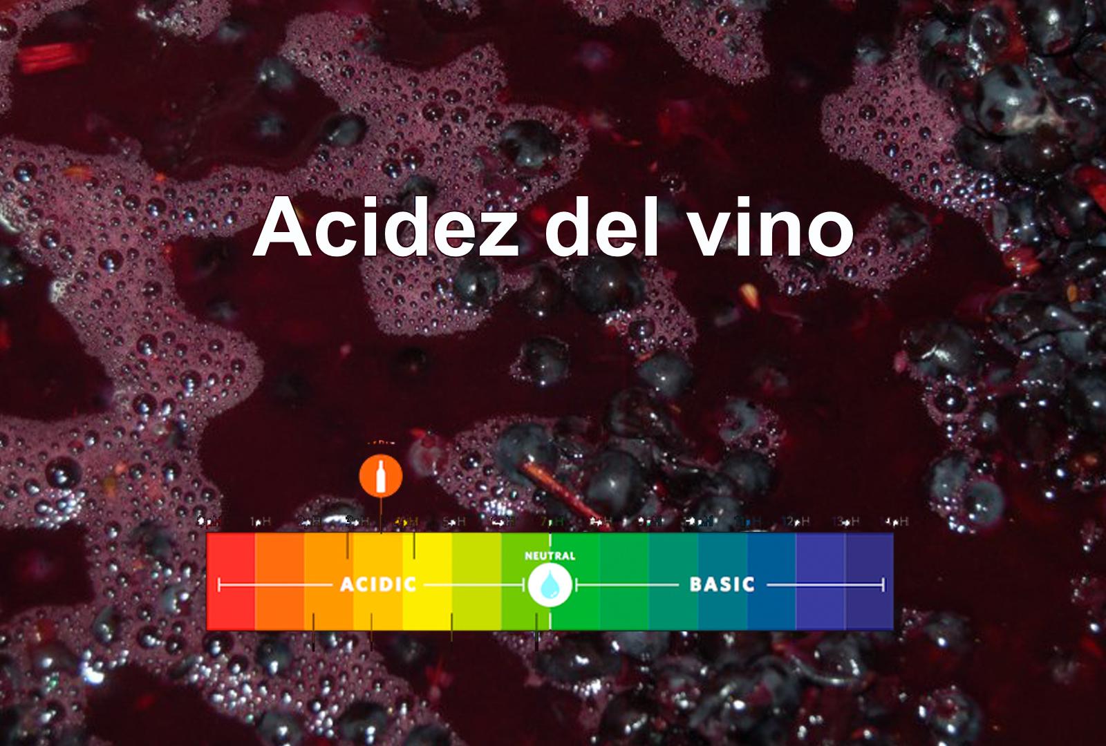 acidez de los vinos
