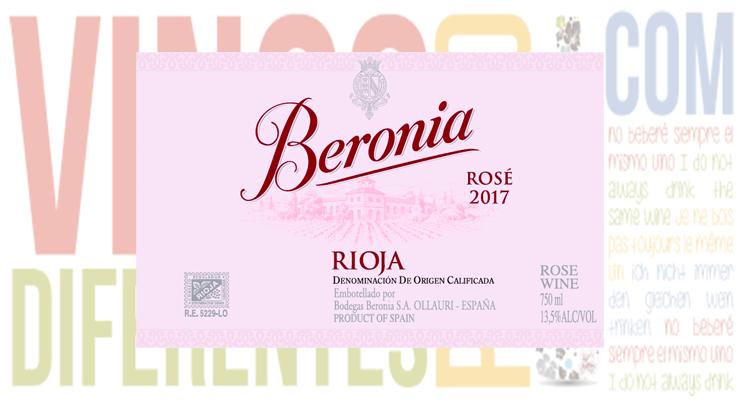 Vino Beronia Rosé 2017.