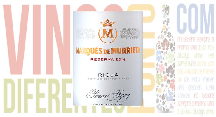 Vin rouge, Marqués de Murrieta Reserva 2014.